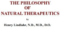 Philosophy of Natural Therapeutics