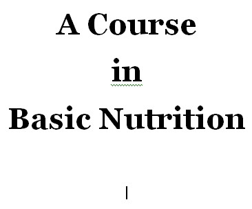 Basic Nutrition Course