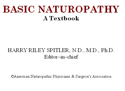 Basic Naturopathy: A Textbook